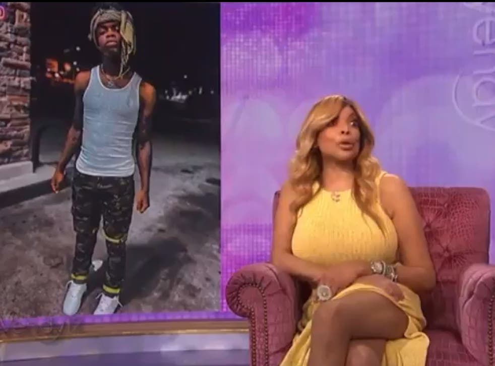 <p>Wendy Williams during the controversial clip on 'The Wendy Williams Show'</p>