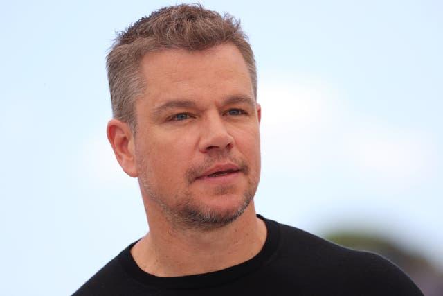 <p>Matt Damon durante un photocall de 'Stillwater' en el Festival de Cine de Cannes el 9 de julio de 2021</p>