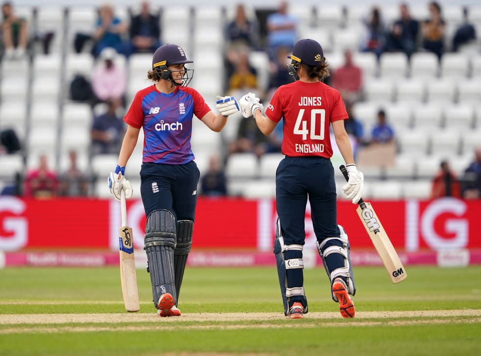 Nat Sciver and Amy Jones starred for England in their win over India