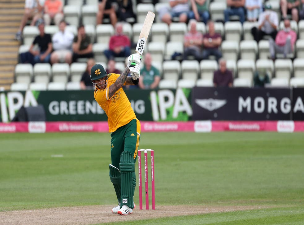 Alex Hales was at his belligerent best on Friday night (David Davies/PA)