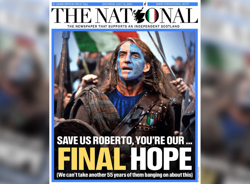 Scottish newspaper The National urges Italy win with front-page mock-up –  here's what people thought of it | indy100