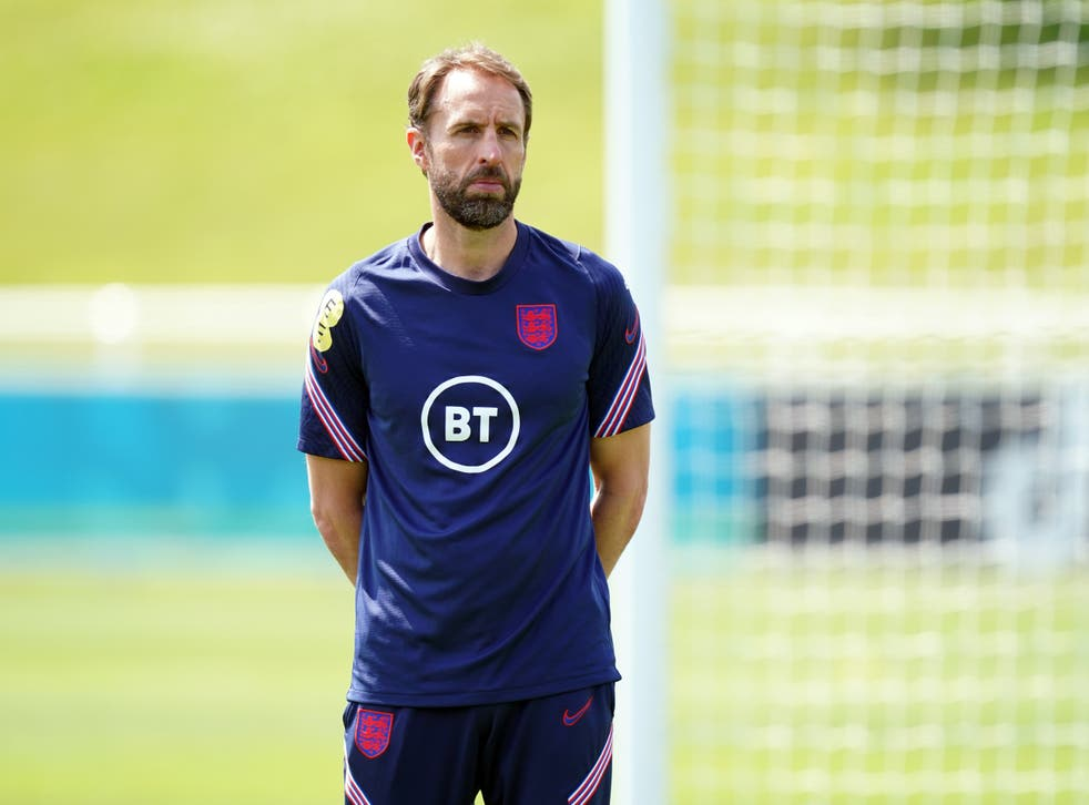 England manager Gareth Southgate sees his side take on Italy in the Euro 2020 final on Sunday