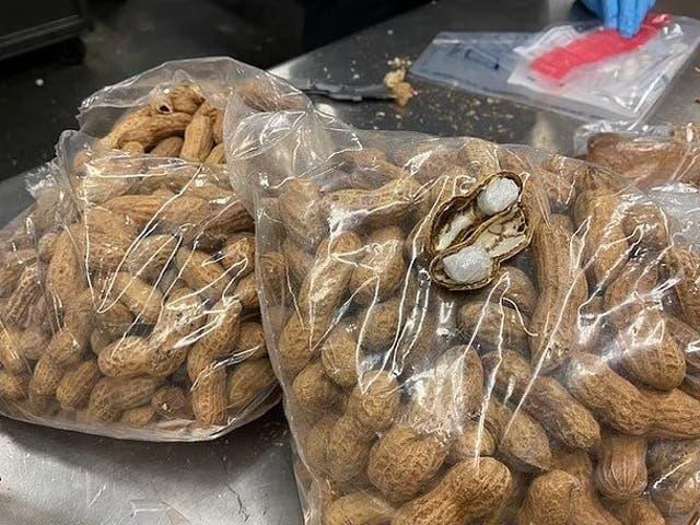 <p>La Oficina de Aduanas y Protección Fronteriza de EE. UU. Confiscó casi 500 gramos de metanfetamina escondidos dentro de cáscaras de maní enviadas desde México a Texas.</p>
