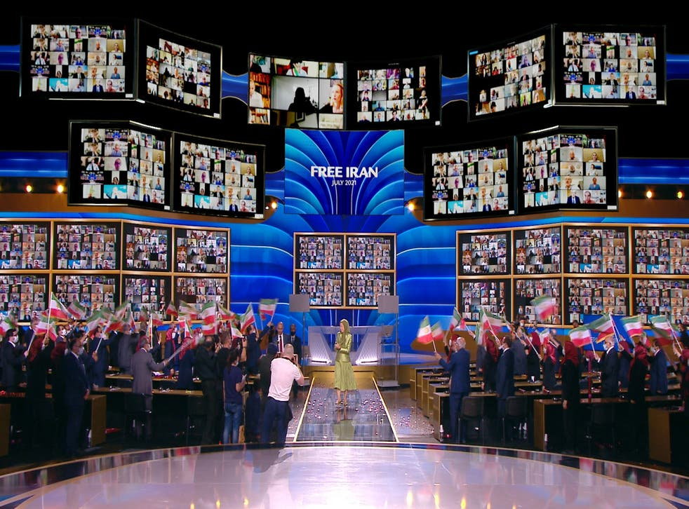 <p>Maryam Rajavi, President-elect of the National Council of Resistance of Iran (NCRI) attends the Free Iran World Summit 2021.</p>