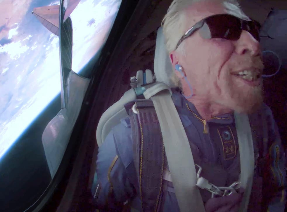 <p>Sir Richard Branson became the first billionaire to make it to the edge of space on Sunday</p>