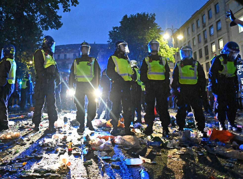 <p>In total, 19 Met Police officers were also injured</p>