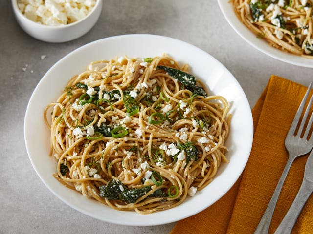 <p>This easy, breezy dinner is done in the time it takes to cook the pasta</p>