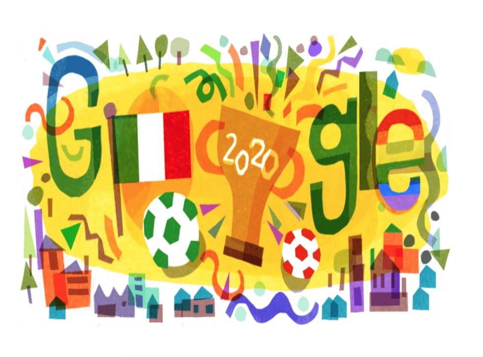 <p>Google cambió sus colores y diseño para honrar a la selección italiana de futbol este lunes</p>