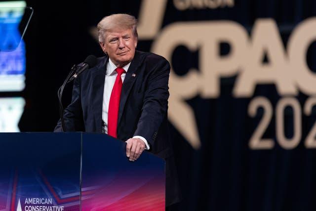<p>El ex presidente de los Estados Unidos, Donald Trump, habla en la Conferencia de Acción Política Conservadora (CPAC) en Dallas, Texas, el 11 de julio de 2021.</p>