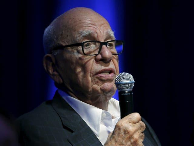 <p>Rupert Murdoch speaking in 2020</p>
