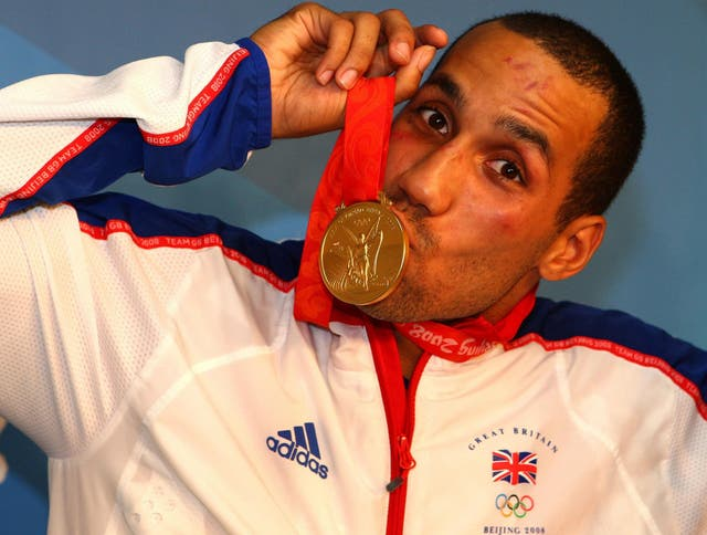 <p>James DeGale won middleweight gold at the 2008 Olympic Games</p>