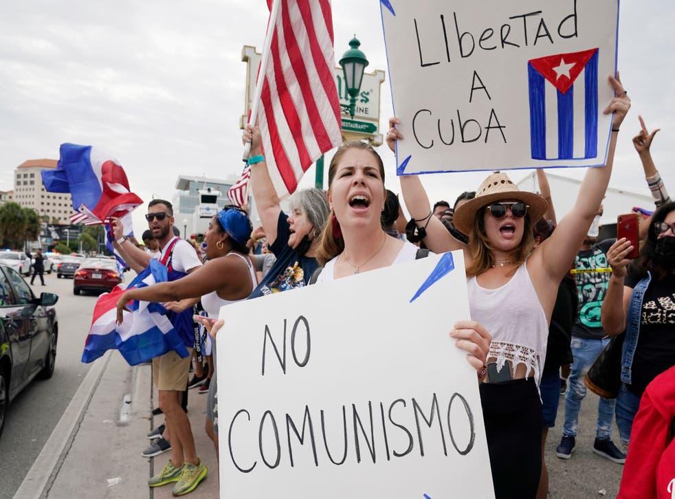Cuba Protest Miami