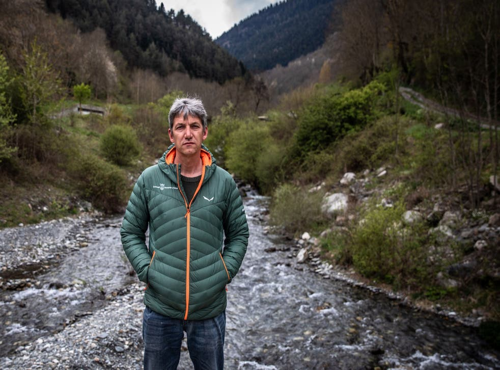 <p>Ivan Afonso, an environmental scientist, by a river bed in Vielha, Spain</p>