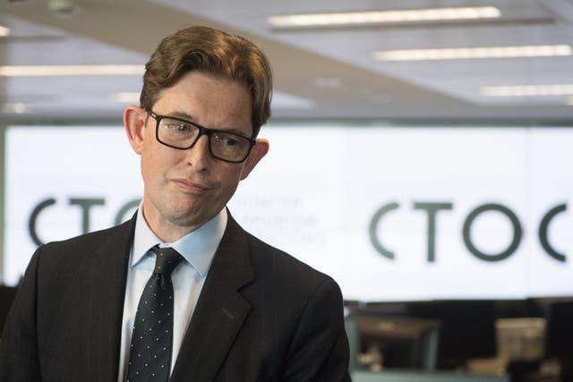 <p>MI5 chief Ken McCallum pictured at the Counter-Terrorism Operations Centre (CTOC) in West Brompton, London in June.</p>