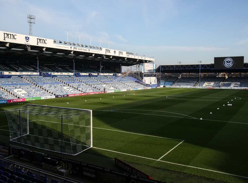 <p>A general view of Fratton Park</p>