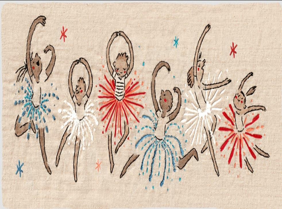 <p>El Doodle de este día fue dibujado, pintado y bordado sobre manta por la artista Hélène Leroux</p>