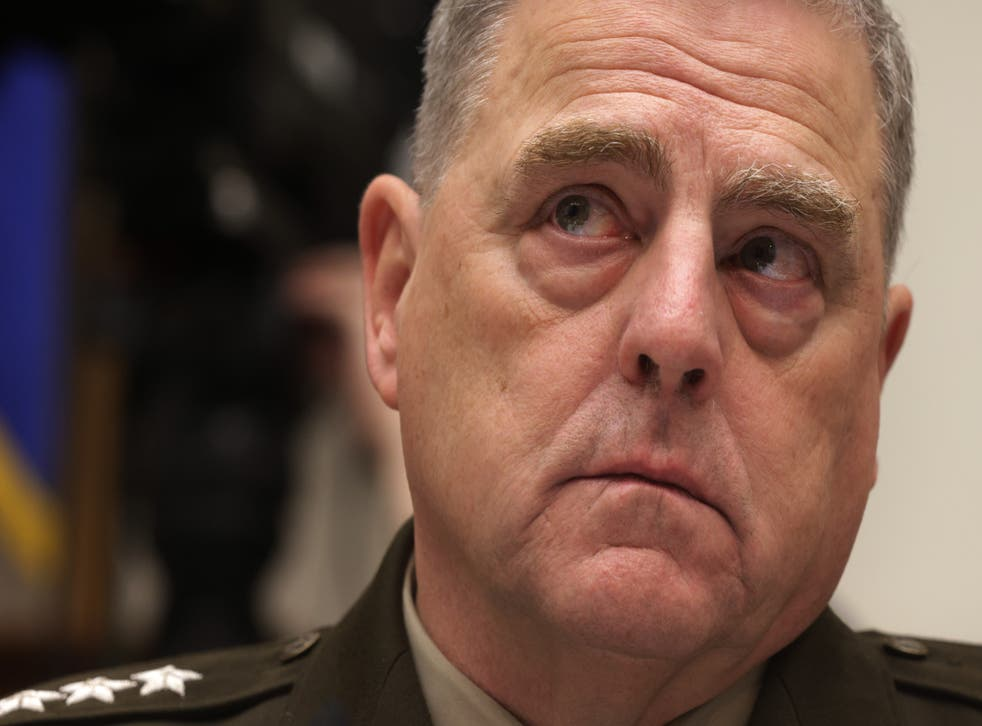 <p>In an upcoming book by two Pulitzer Prize winning journalists, US Chairman of the Joint Chiefs of Staff General Mark Milley likened Donald Trump to Adolf Hitler</p>