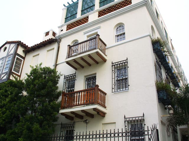 <p>Casa Casuarina, Gianni Versace's former residence before he was murdered, photographed on 15 August 2001 in Miami Beach, Florida</p>