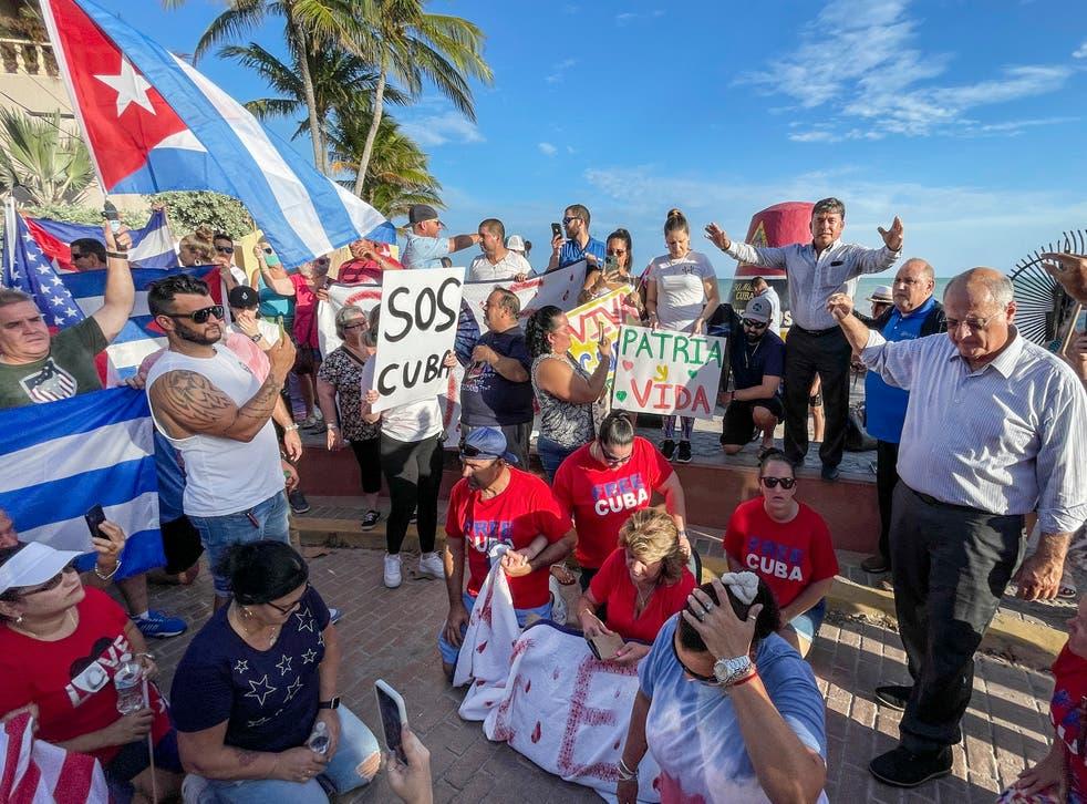 FLORIDA-CUBA PROTESTAS