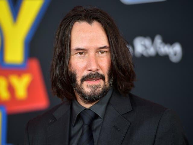 <p>Keanu Reeves en el estreno de 'Toy Story 4' el 11 de junio de 2019 en Los Ángeles, California</p>