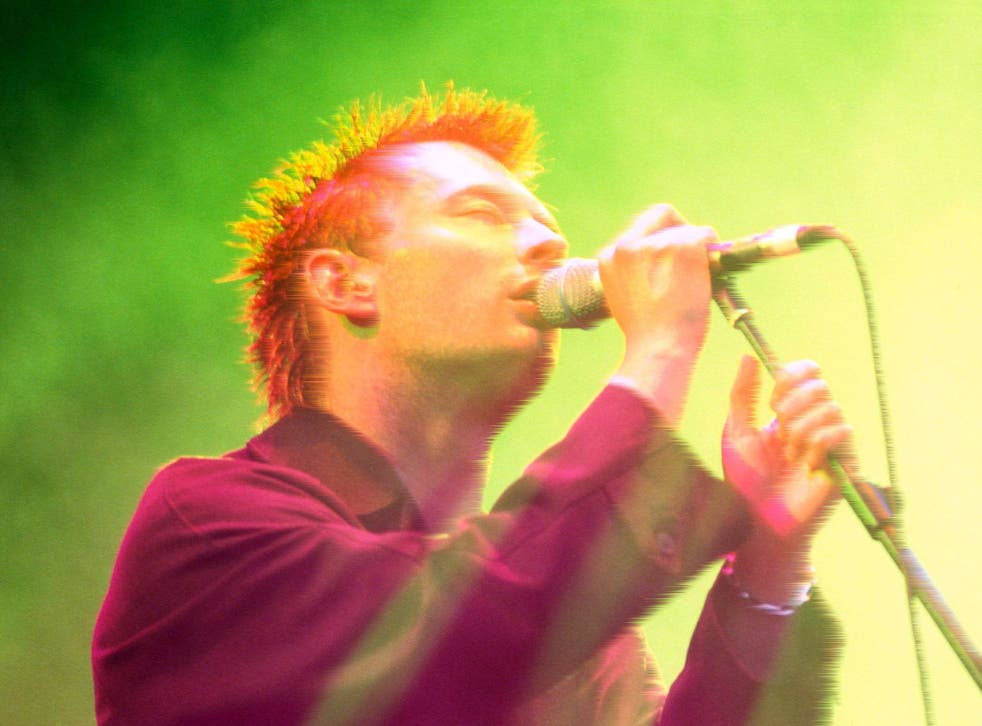 <p>Slowed down, extra reverb and crackling vinyl: Radiohead's Thom Yorke in concert in 1996</p>