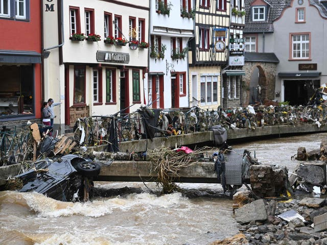 <p>Bad Muenstereifel in western Germany is among the areas hit by flooding</p>