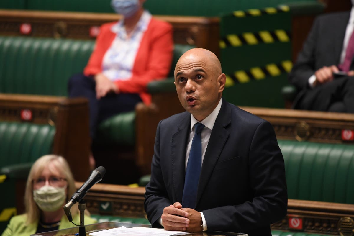 Image Sajid Javid deletes tweet and apologises for saying people had been 'cowering' from Covid