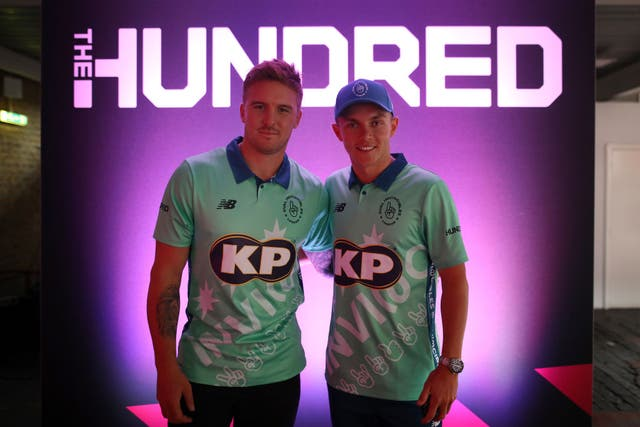 <p>England stars Jason Roy and Sam Curran will play for Oval Invincibles </p>