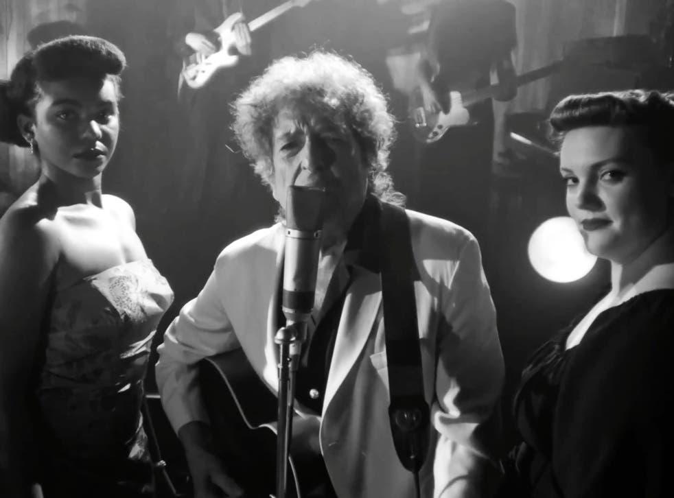 <p>Bob Dylan during his 'Shadow Kingdom' live-stream</p>