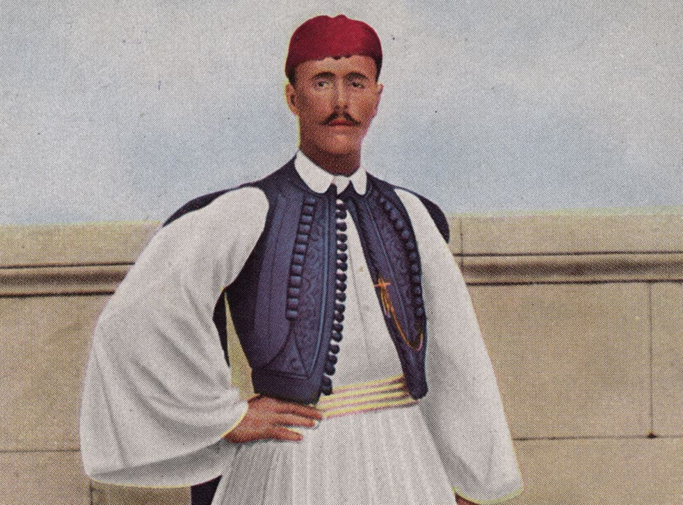 <p>Fuelled by a whole cooked chicken and milk, Spyridon Louis beat his competitors in the 24.85 mile race from Marathon to Athens</p>