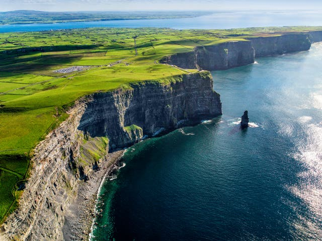 Aerial cliffs of Moher Clare Ireland (Alamy/PA)