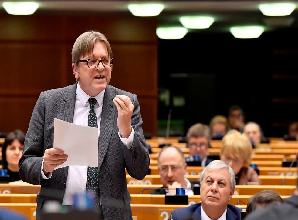 <p>MEP Guy Verhofstadt  furious at policies by Orban's government</p>