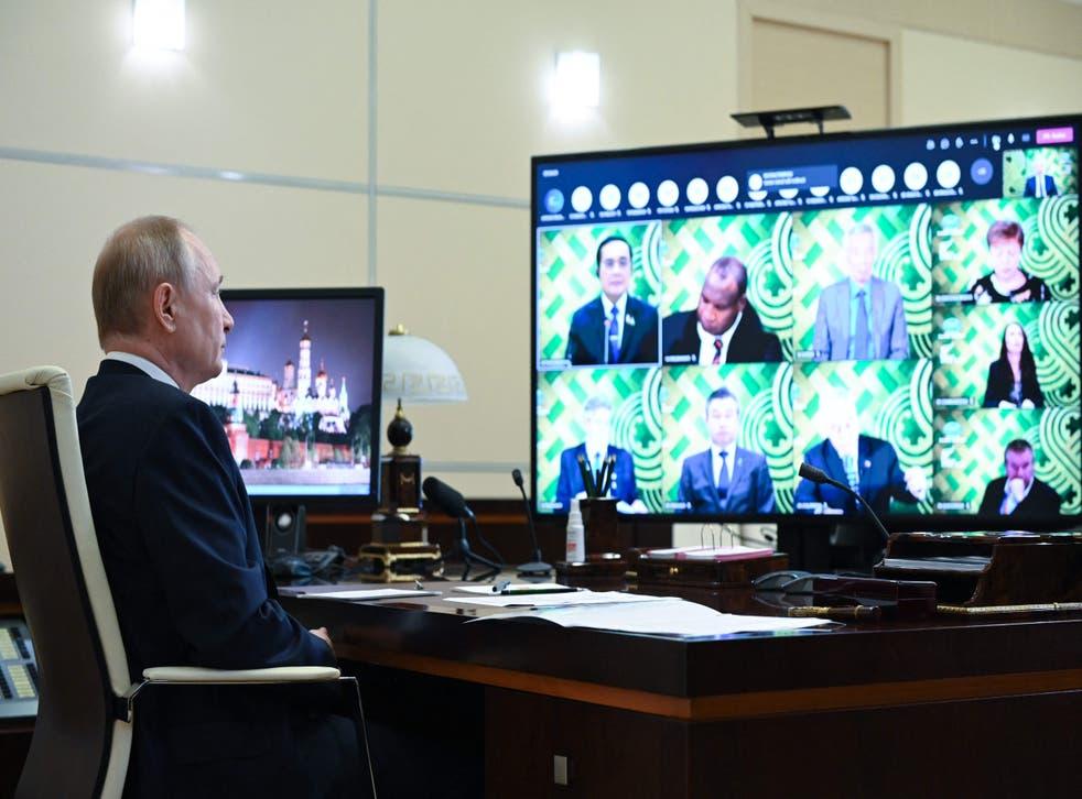 <p>Russian president Vladimir Putin</p>