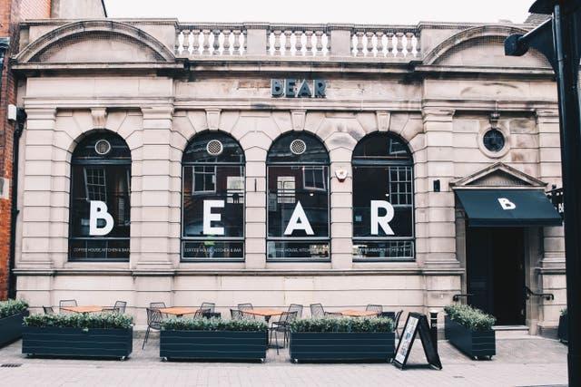A BEAR coffee shop