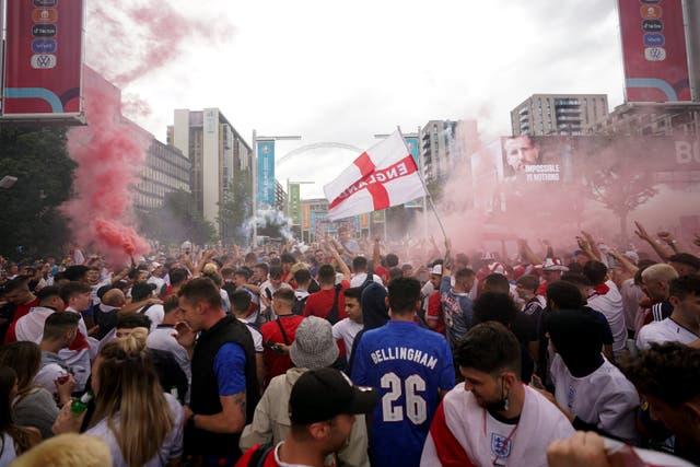 England fans at Wembley