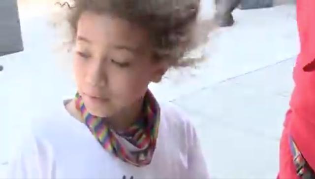<p>Faris Nunn, de 8 años, le dice a un reportero de WUSA9 que ya ha vivido dos tiroteos</p>