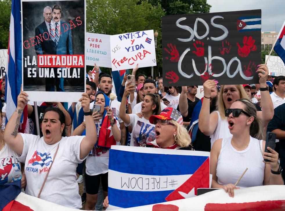 Cuba Protest Washington