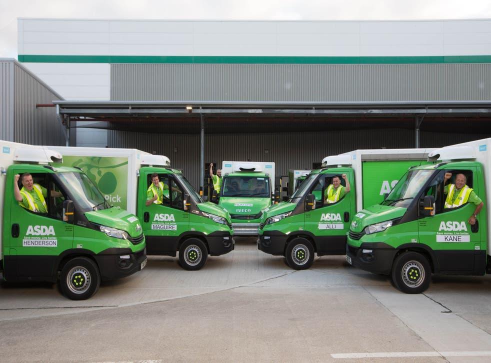 Asda delivery vans