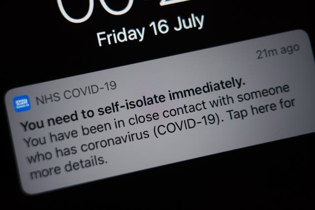 The NHS app notification