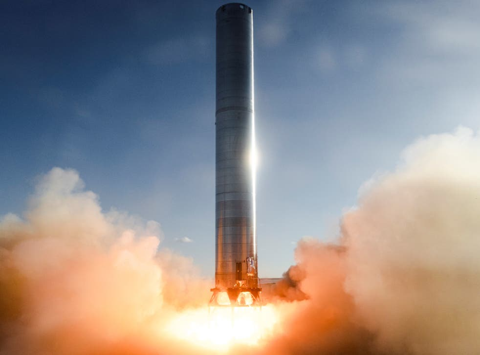 <p>The first static fire test of SpaceX's Super Heavy Booster rocket took place on 19 July, 2021, in Boca Chica, Texas</p>