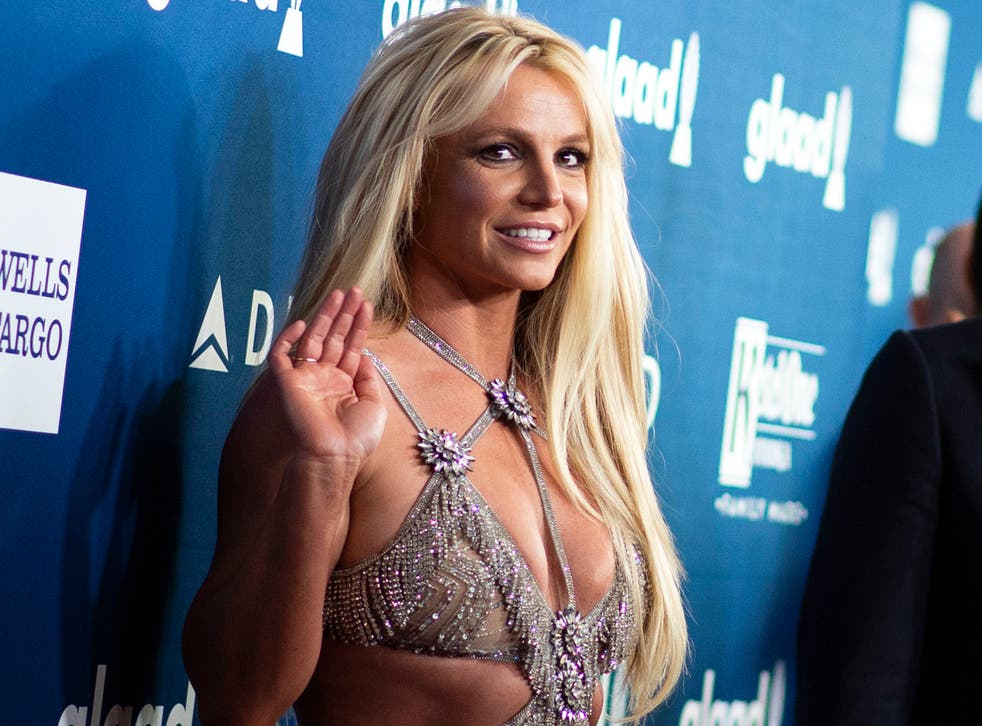 <p>Britney Spears attends the 29th Annual GLAAD Media Awards at the Beverly Hilton on 12 April 2018 in Beverly Hills, California</p>