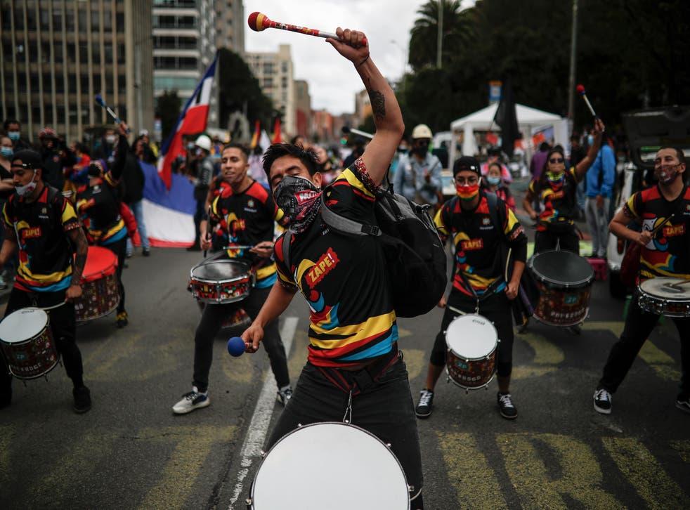 APTOPIX Colombia Protest