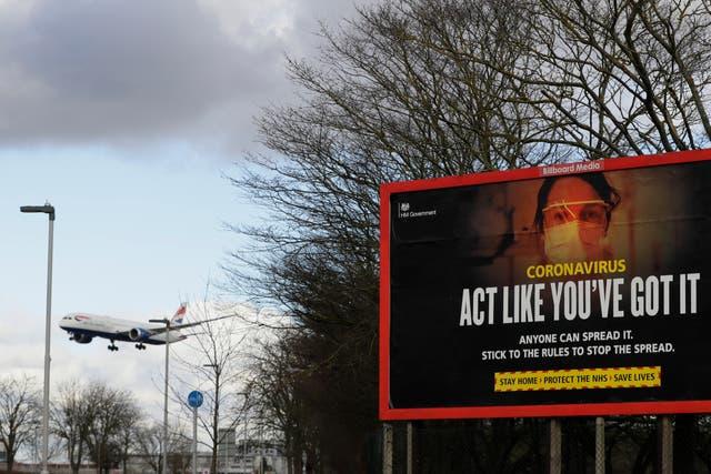 Virus Outbreak Britain Border Checks