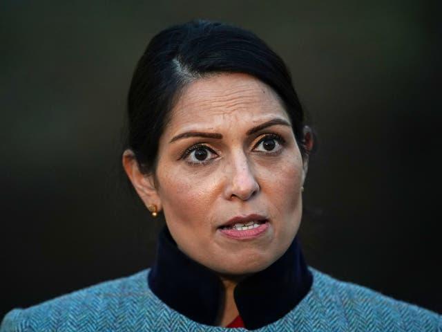 <p>Home secretary Priti Patel</p>
