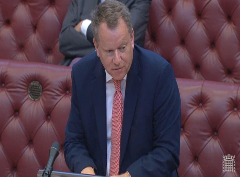 <p>David Frost, the Brexit minister, tells the House of Lords the UK government wants to renegotiate the Northern Ireland protocol</p>