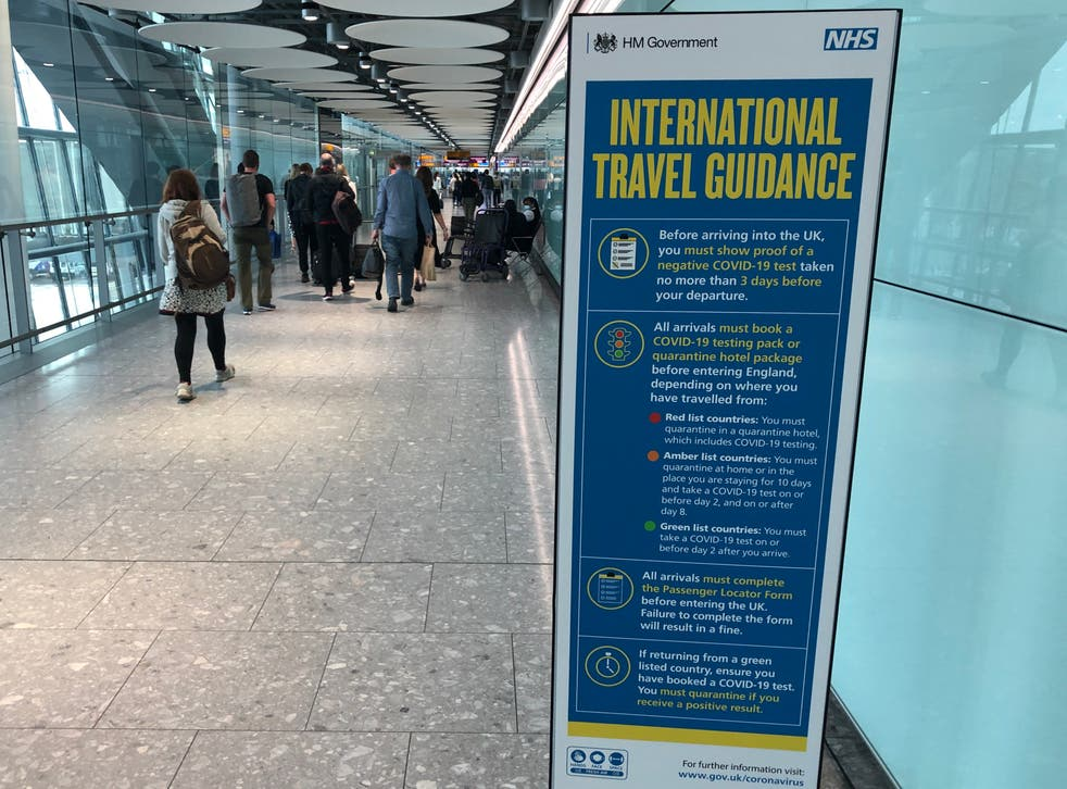 <p>Papers please: travellers to the UK must complete a passenger locator form and take multiple tests</p>