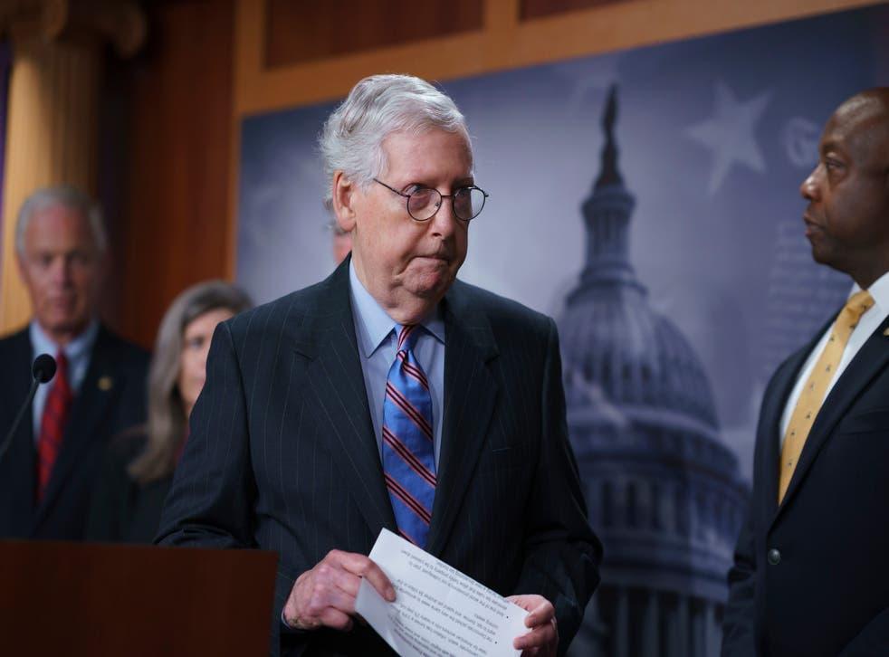 <p>Senate Minority Leader Mitch McConnell.</p>