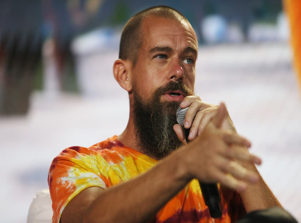 <p>Jack Dorsey, the creator, co-founder and chairman of Twitter speaks on stage at the Bitcoin 2021 Convention</p>