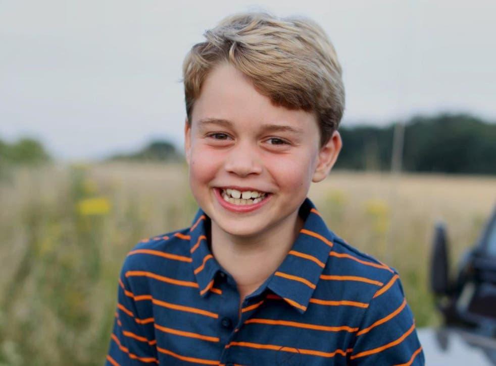 <p>Prince George's eighth birthday portrait</p>