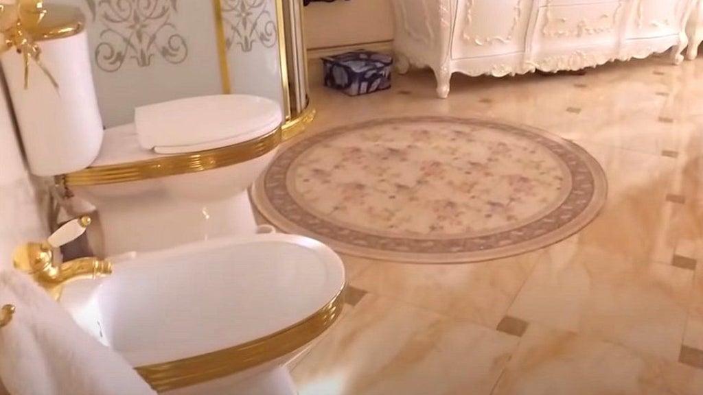 Russian investigators find 'golden toilet' during raid on suspected corrupt police